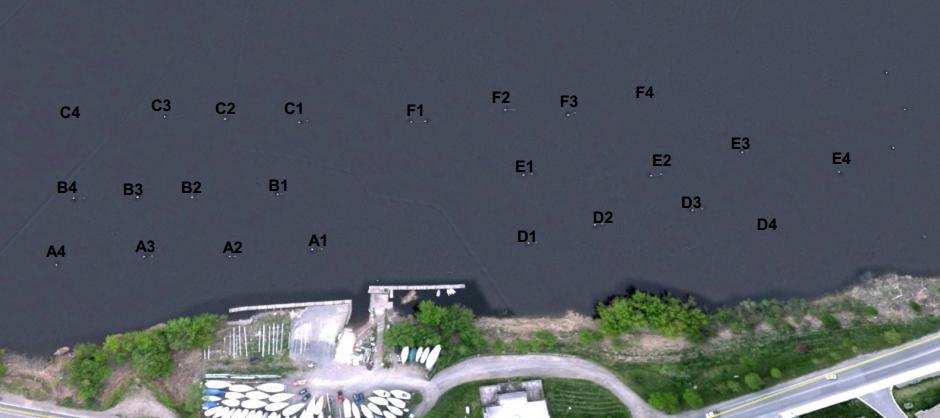 Fredericton Mooring field numbering